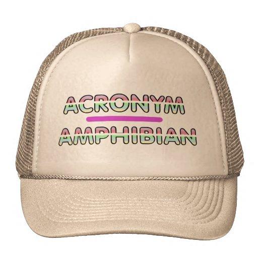 Gorra del anfibio de las siglas (filo)