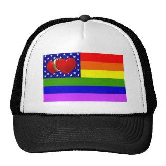 gorra del anillo de bodas del corazón de América d