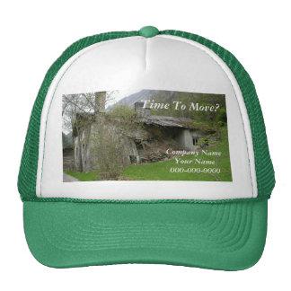 Gorra del anuncio de la mudanza/de las propiedades