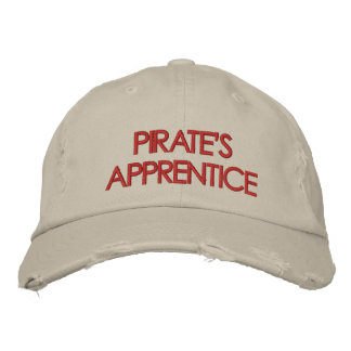 Gorra del aprendiz del pirata gorros bordados