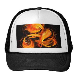 Gorra del arte abstracto de la bola de fuego