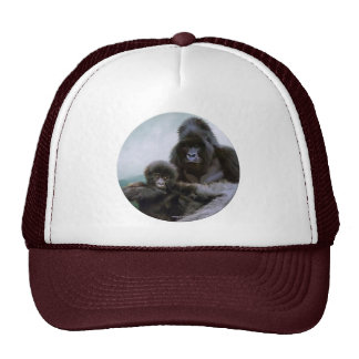 Gorra del arte de la fauna del gorila de montaña y