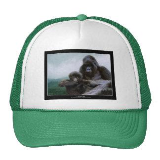 Gorra del arte de la fauna del padre y del bebé