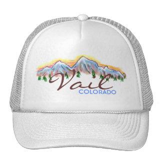 Gorra del arte de la montaña de Vail Colorado