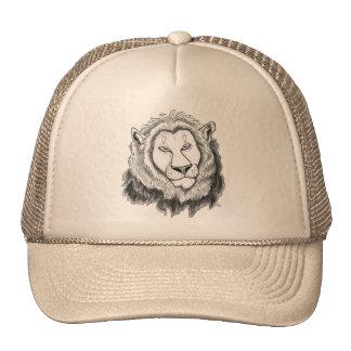 Gorra del arte del bosquejo del lápiz del león