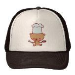Gorra del arte del Doodle del cocinero del oso
