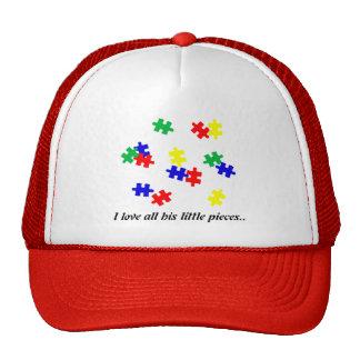 Gorra del autismo, amo todos sus pequeños pedazos…