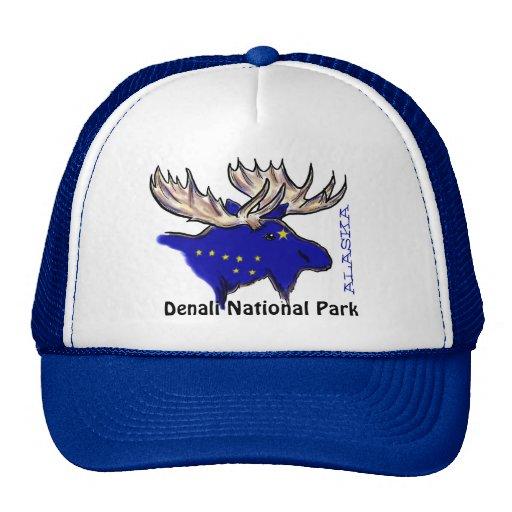 Gorra del azul de los alces de la bandera de Alask