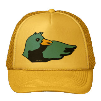 Gorra del azul del amarillo del pájaro de Lenin de