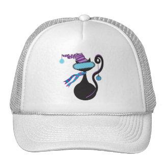 Gorra del azul del gatito de Santa