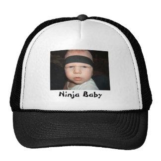 Gorra del bebé de Ninja