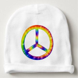 Gorra del bebé del símbolo de paz del teñido gorrito para bebe