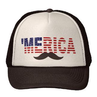 'Gorra del bigote de Brown de la bandera de MERICA