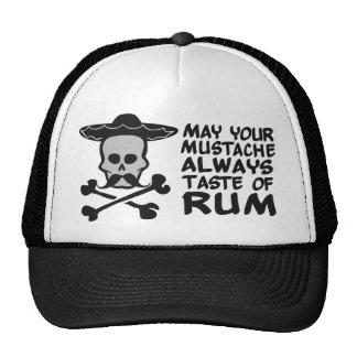 Gorra del bigote del ron - elija el color
