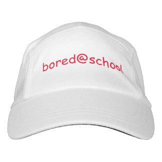 gorra del blanco de bored@school gorra de alto rendimiento