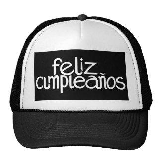 Gorra del blanco de Feliz Cumpleaños