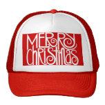 Gorra del blanco de las Felices Navidad