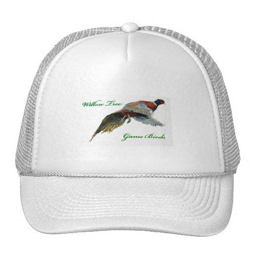 Gorra del blanco de los pájaros de juego del sauce