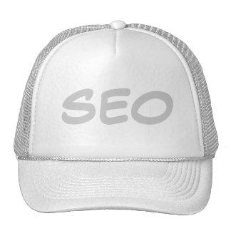 Gorra del blanco de SEO