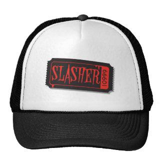 Gorra del boleto de la película de Slasher