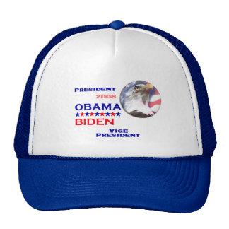 Gorra del boleto de Obama Biden
