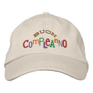 Gorra del bordado de Buon Compleanno Gorra De Béisbol Bordada