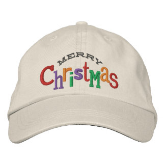 Gorra del bordado de las Felices Navidad Gorros Bordados