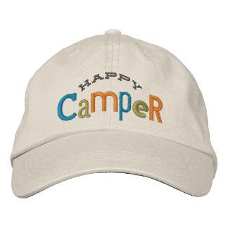 Gorra del bordado del campista contento gorras bordadas
