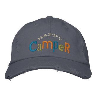 Gorra del bordado del campista contento gorros bordados