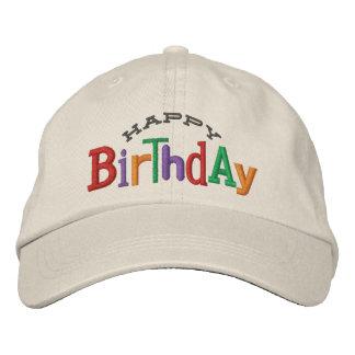 Gorra del bordado del feliz cumpleaños gorra de beisbol