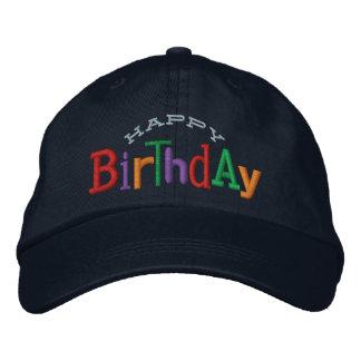 Gorra del bordado del feliz cumpleaños gorra bordada
