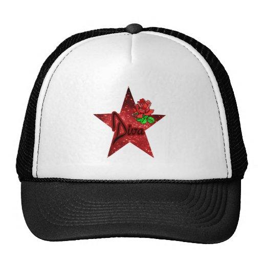 Gorra del brillo de la estrella de la diva