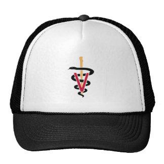 Gorra del caduceo del veterinario
