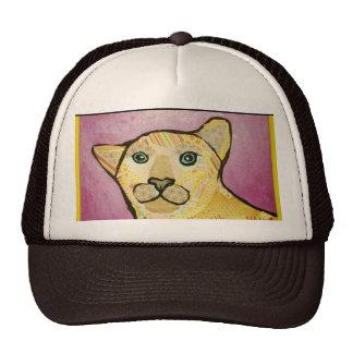 Gorra del camionero con diseño lindo del león