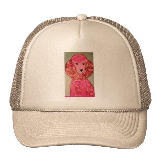 Gorra del camionero con diseño rosado del caniche