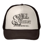 Gorra del camionero con el valle del cráneo, logot