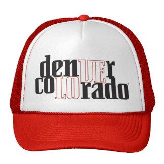 Gorra del camionero de Denver Colorado del amor