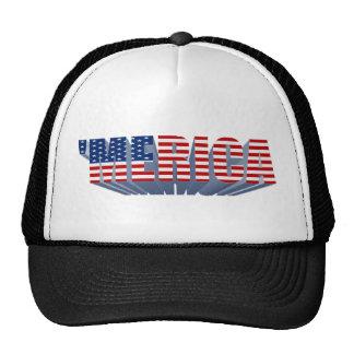 'Gorra del camionero de la bandera 3D de MERICA LO