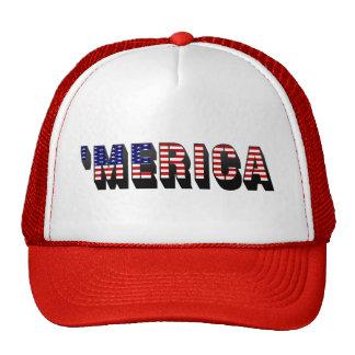 gorra del camionero de la bandera de 3D MERICA LOS