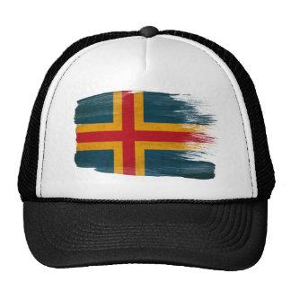 Gorra del camionero de la bandera de Aland