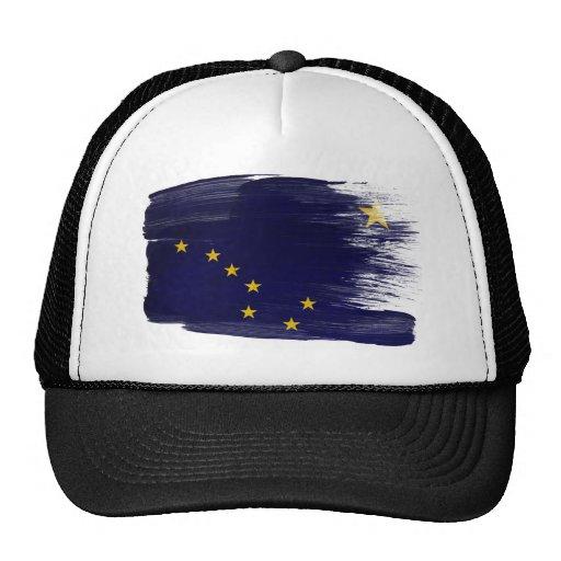 Gorra del camionero de la bandera de Alaska
