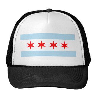 Gorra del camionero de la bandera de Chicago
