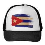 Gorra del camionero de la bandera de Cuba