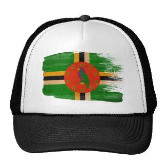 Gorra del camionero de la bandera de Dominica