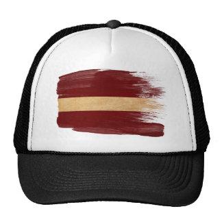 Gorra del camionero de la bandera de Letonia