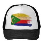 Gorra del camionero de la bandera de los Comoro