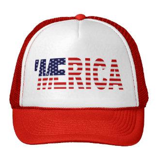 Gorra del camionero de la bandera de MERICA LOS E
