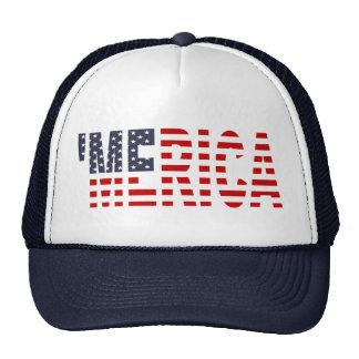 'Gorra del camionero de la bandera de MERICA LOS E Gorras De Camionero