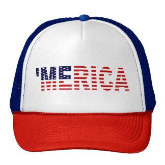 'Gorra del camionero de la bandera de MERICA los Gorro De Camionero