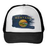 Gorra del camionero de la bandera de Montana